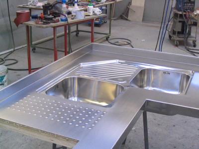 Lavello angolare in acciaio inox - arredo photo - Flavio photos at ...