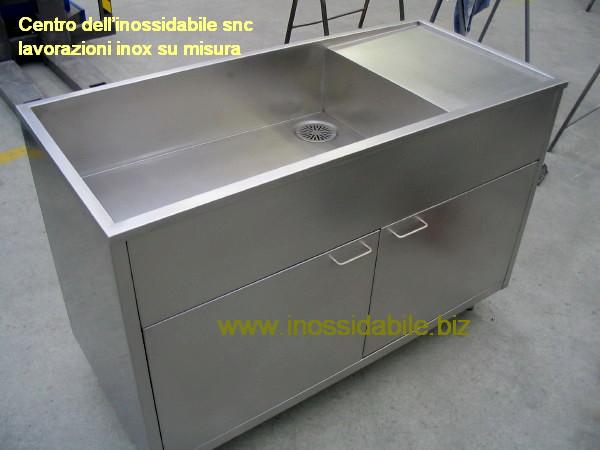 mobile inox aisi 316 con lavello su misura per lavorazione pesce ...