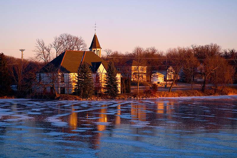 Mill Pond Church Sunset  ~  December 4  [30]