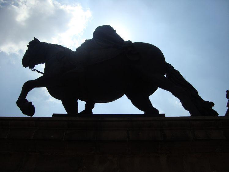 Estatua de Carlos IV de España esculpida por Manuel Tolsá