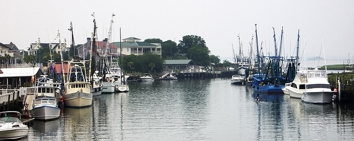 Shem Creek in Rain