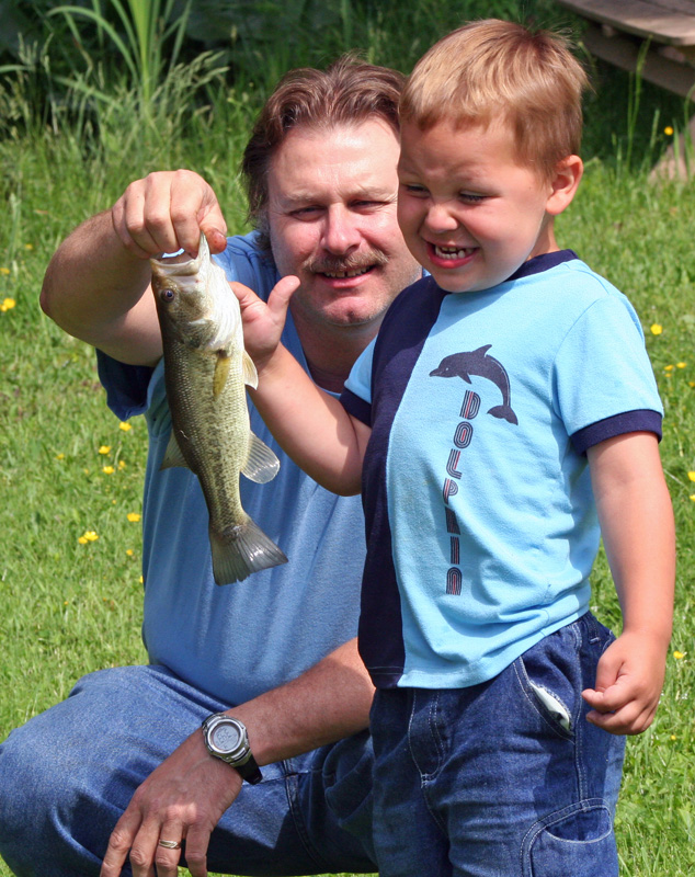 Papa and Asher with bass