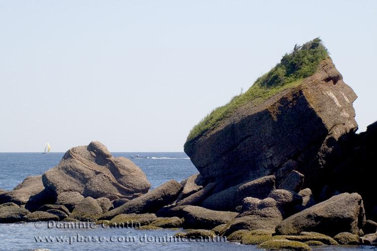 Rocher Tête dIndien / Indian Head Rock / St-George-de-Malbaie , Gaspésie , QC