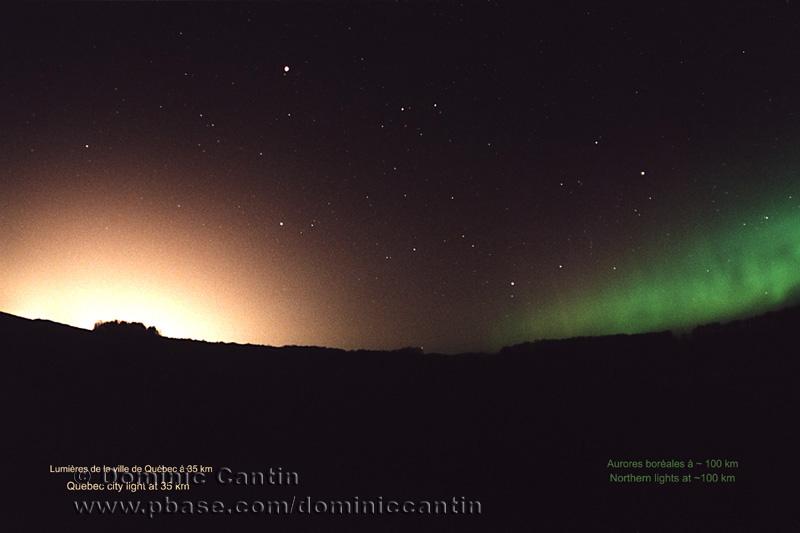 Pollution lumineuse vs Lumières naturelles / Light pollution vs Natural lights