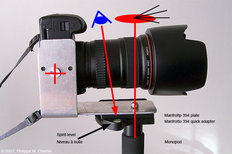Panorama with monopod & bracket - Camera orientation portrait