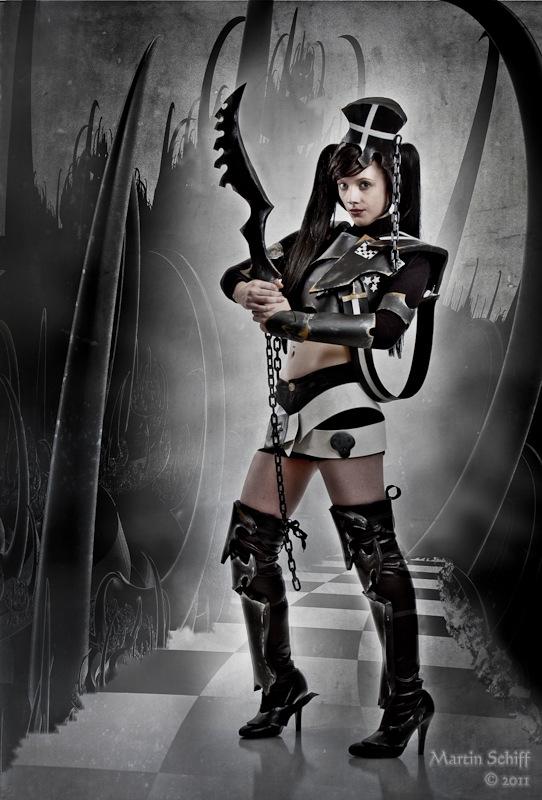 Gemma as Insane Black Rock Shooter