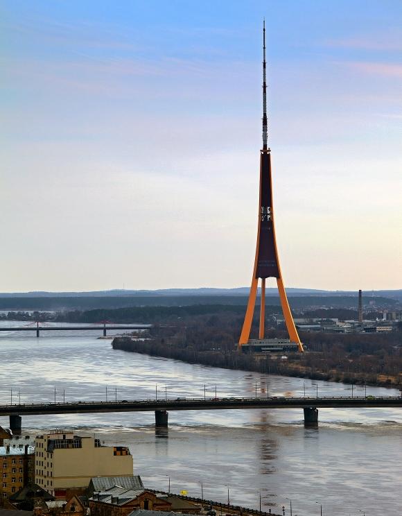Zaķusalas televīzijas tornis (The television tower Zakusalas)