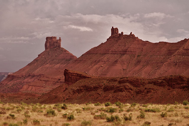 Southeast of Arches NP, on Route 128