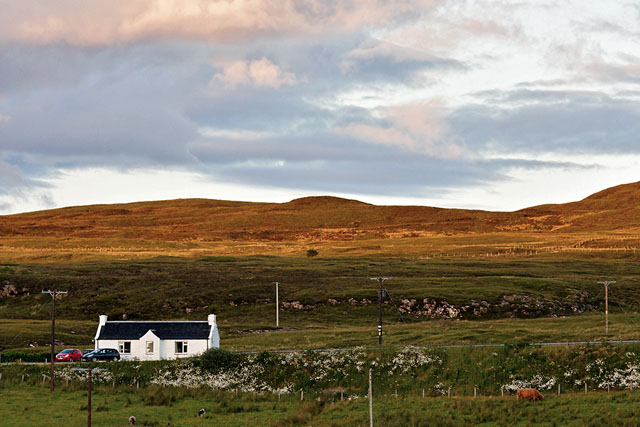 Near the entrance to the Skye Camping & Caravan site, on Loch Greshornish
