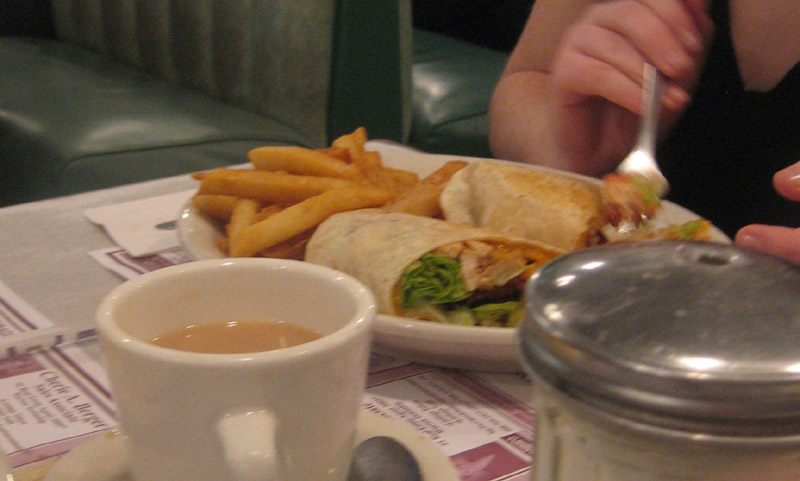diner wrap and fries