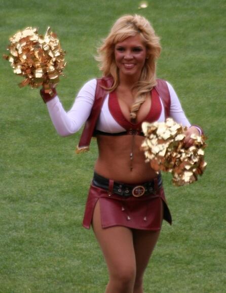 NFL San Francisco 49ers cheerleader