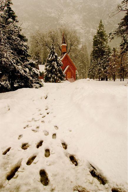 Footprints, Yosemite Chapel