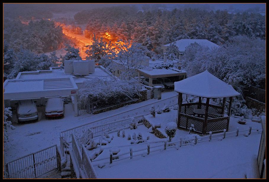 Burning snow