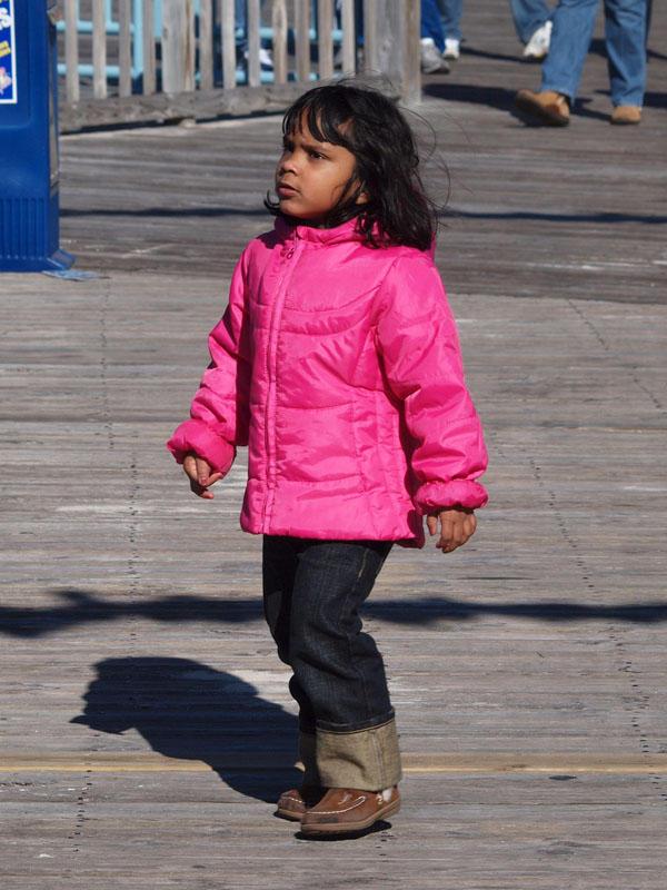 Exploring the boardwalk