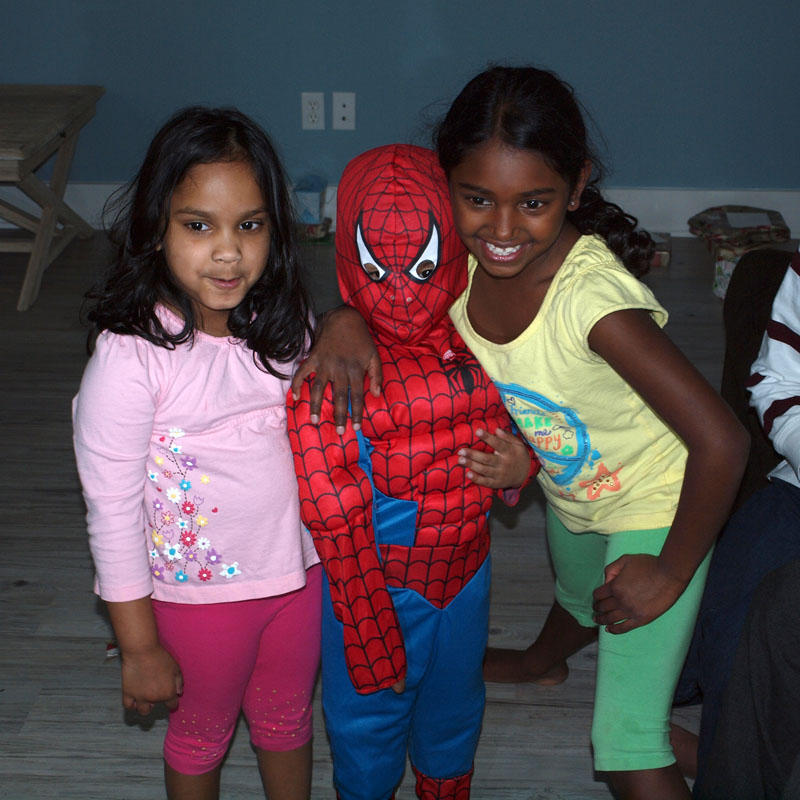 Posing with Spidey