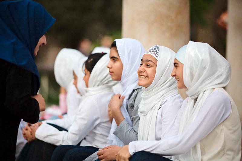 Schoolchildren by Hafezs tomb - Shiraz