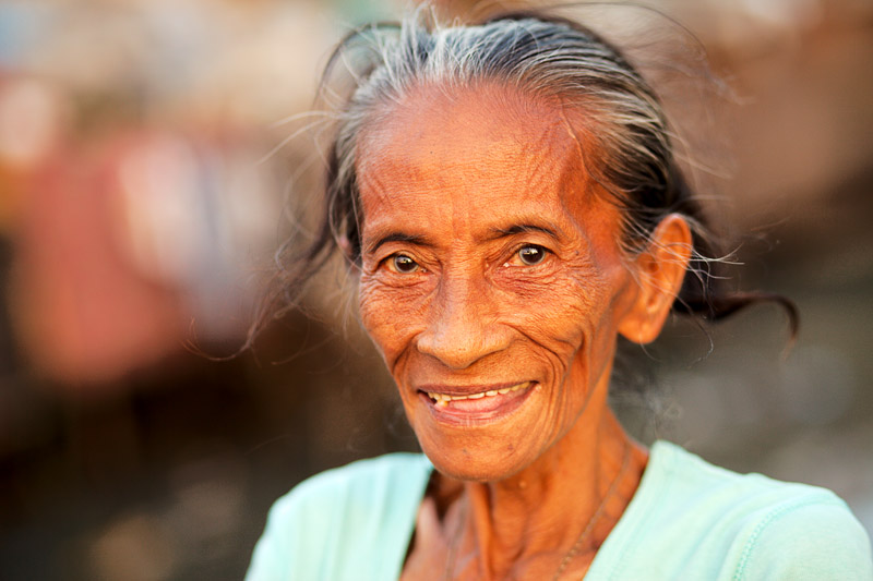 Elderly Filipina