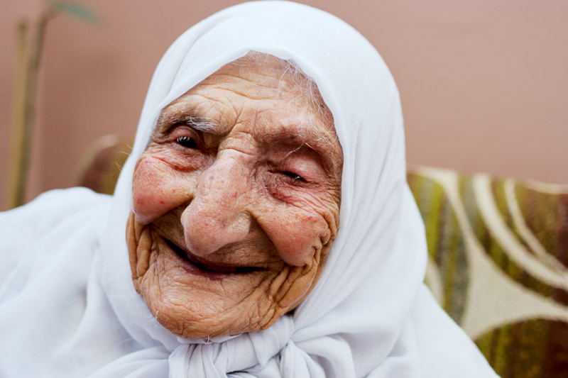 Old woman in refugee camp - Jerusalem