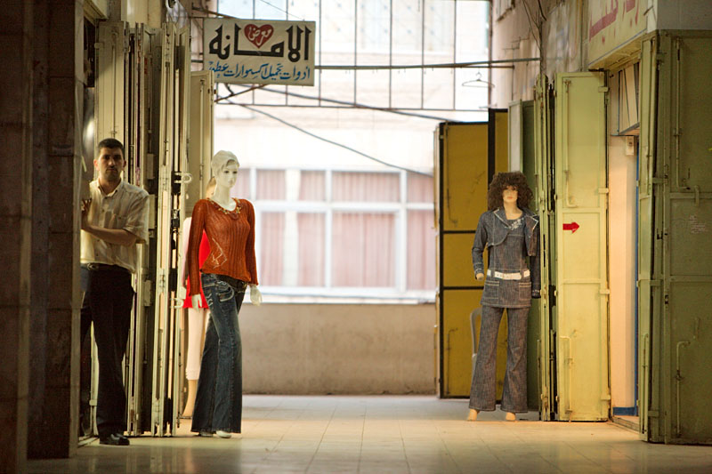 Man and mannequins - Hebron