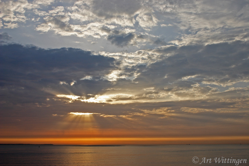 Zonsondergang op Waddenzee / Sunset on the Wadden sea (NL)