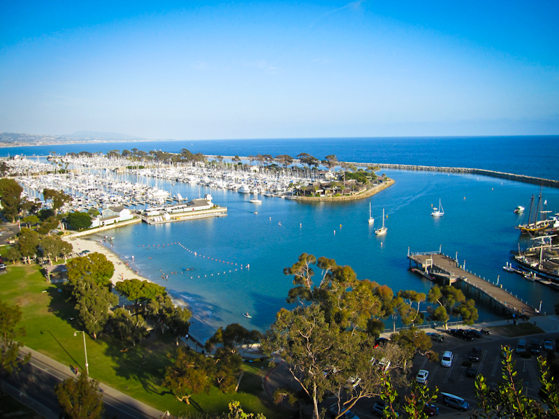 Dana Point Harbour, View from Blue Lantern St