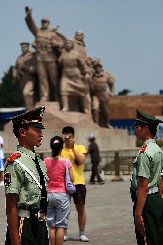Guarding Mao Ze Dong Mausoleum