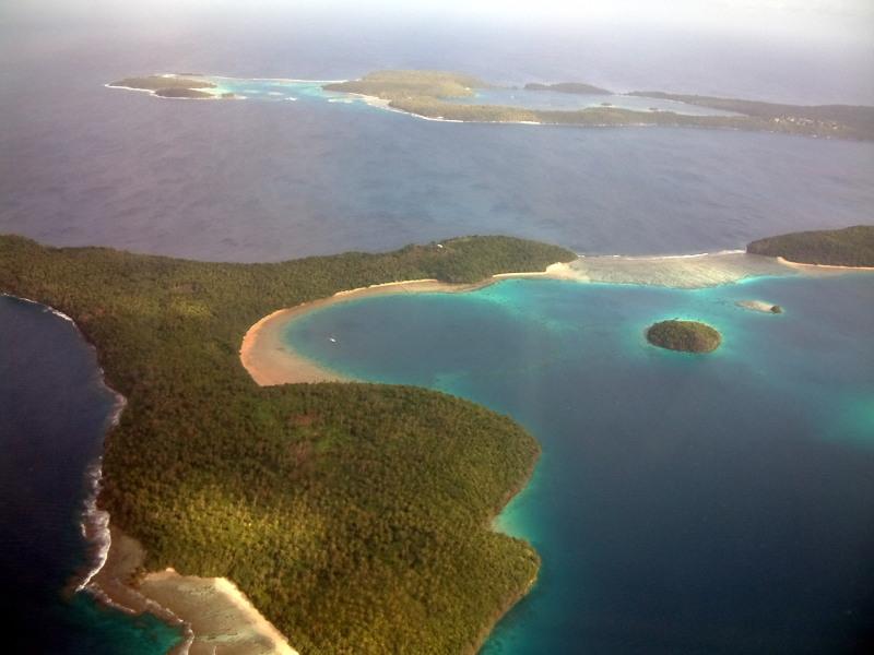 Aerial view of Vavau