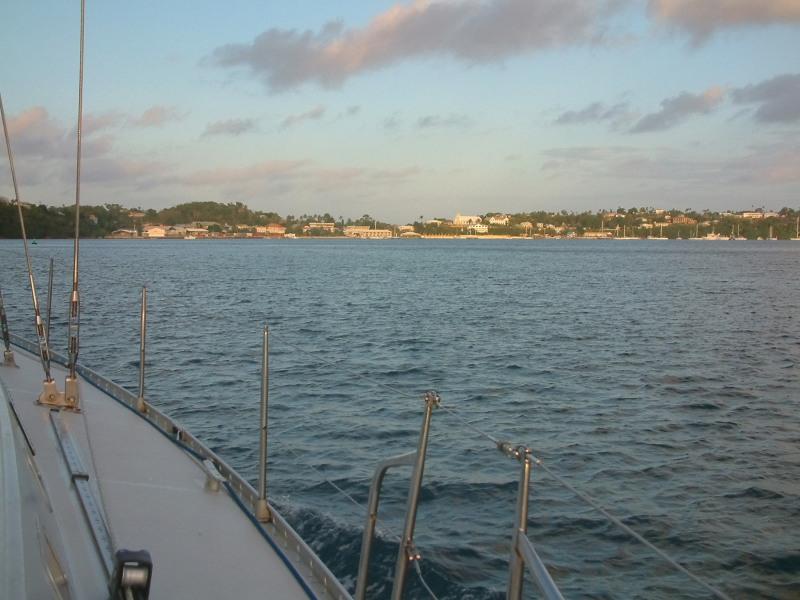 Back into the Port of Refuge Harbor