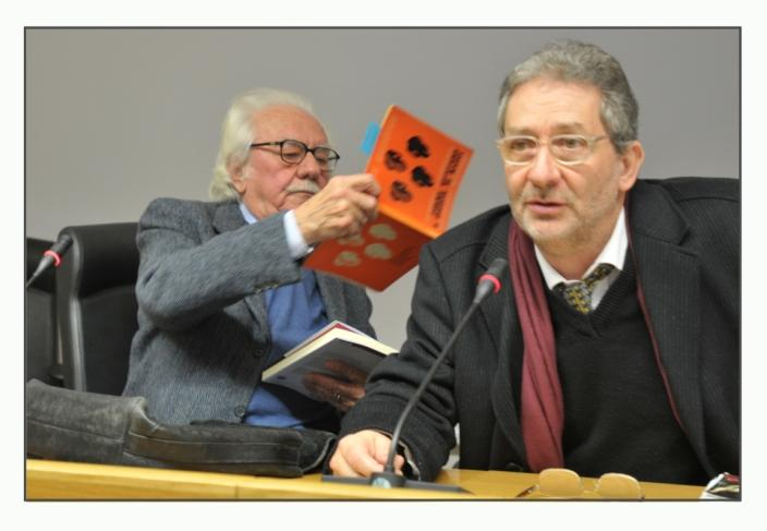 Prof Alberto Asor Rosa e la 1ªediz. di Forme Estetiche con il Prof. Ragone
