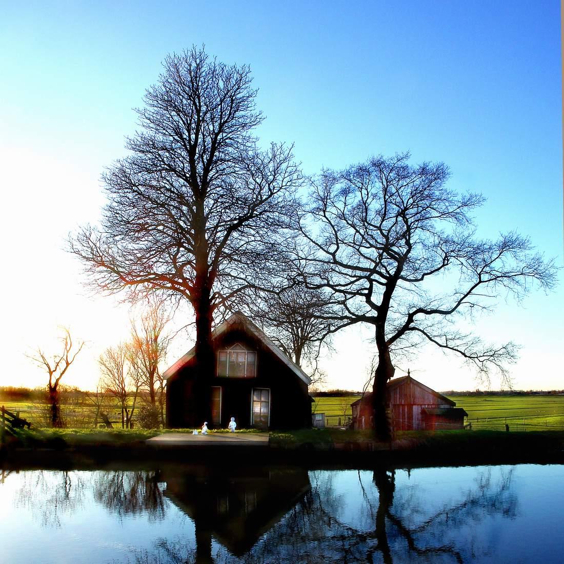 Farmhouse in march