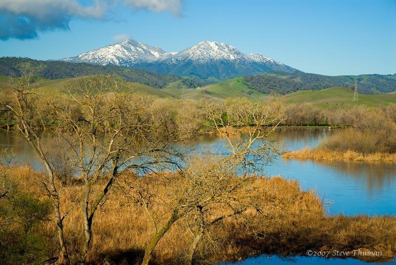 Mt Diablo over Marsh Creek Reservoir