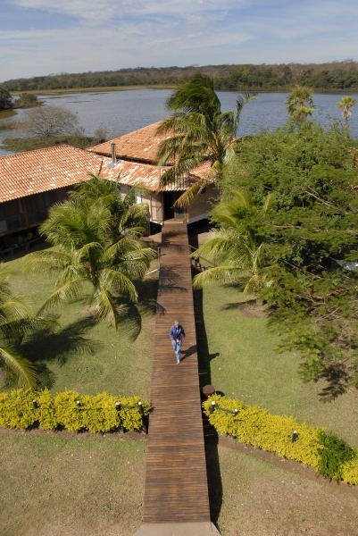 Tower view of Caimen Ranch Lake Lodge, The Pantanal