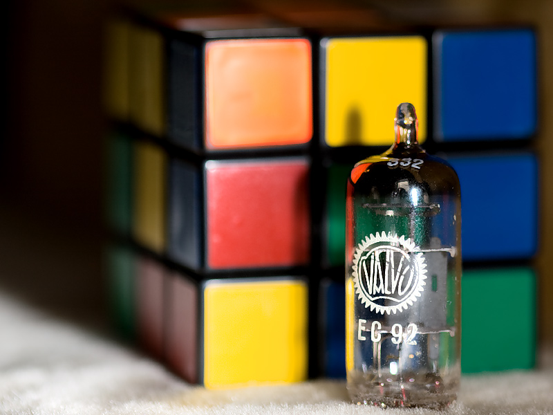 There once was, made by Valvo, a tube<br>who now met, made by Rubik, a cube