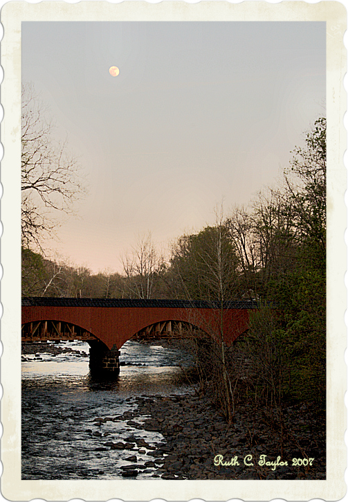 Moon Over the Tohickon Creek