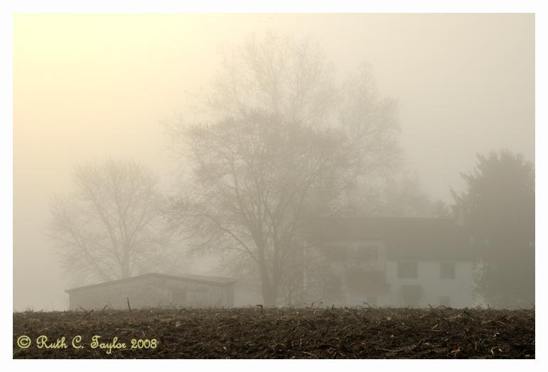 Misty Sunrise over Maximuck Farm