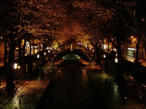 Canal St-Martin à nuit