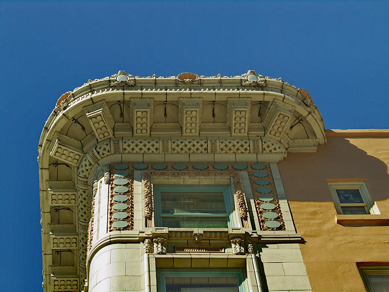 Detail of cornice on Arctic Club Hotel