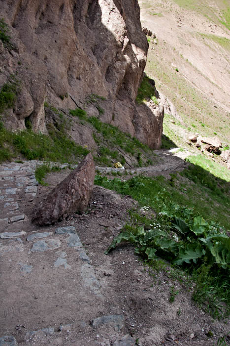 Walk way to Alamut Fortress