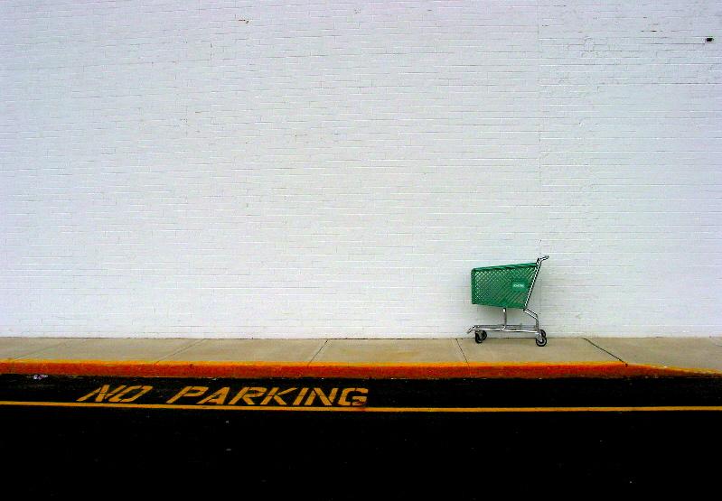 No parking shopping cart