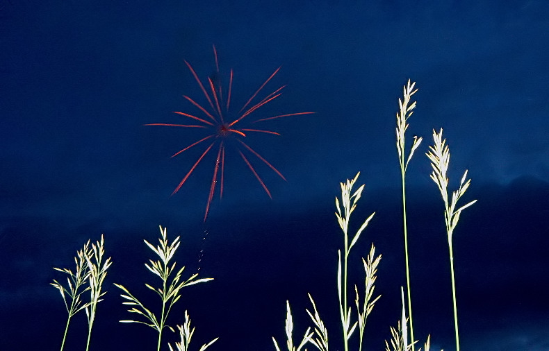 Fireworks in the country