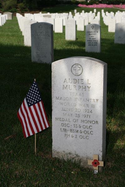Audie Murphy burial site at Arlington National Cemetery