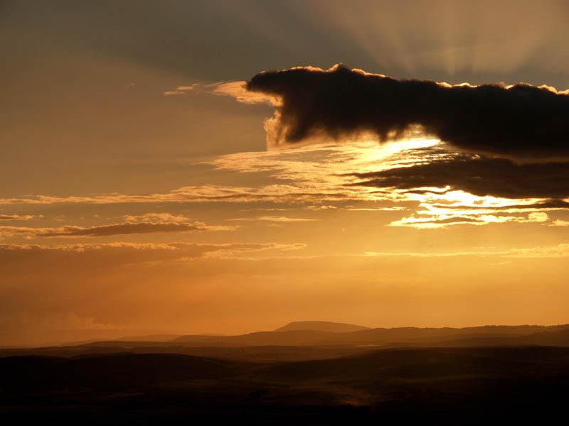 Sunset over the Gran Sabana / Atardecer sobre la Gran Sabana