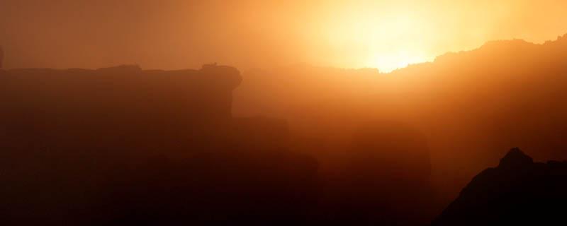 Sunset in Kukenan Tepuy / Atardecer en Kukenan Tepuy