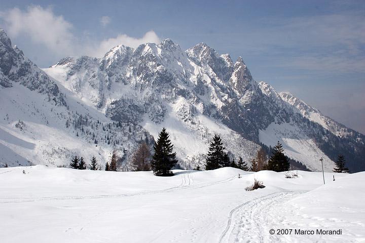 Strada dei campelli in inverno