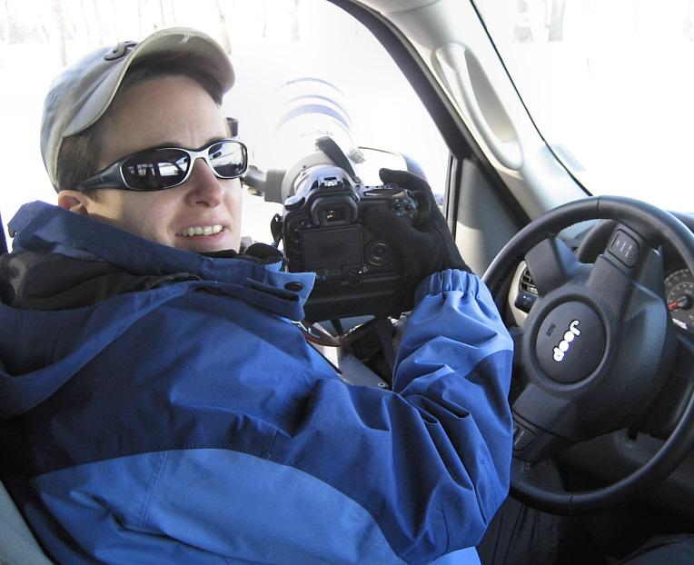 Liz on 2007 midwest eagle safari <div class=cr>&copy;  Liz Stanley</div>