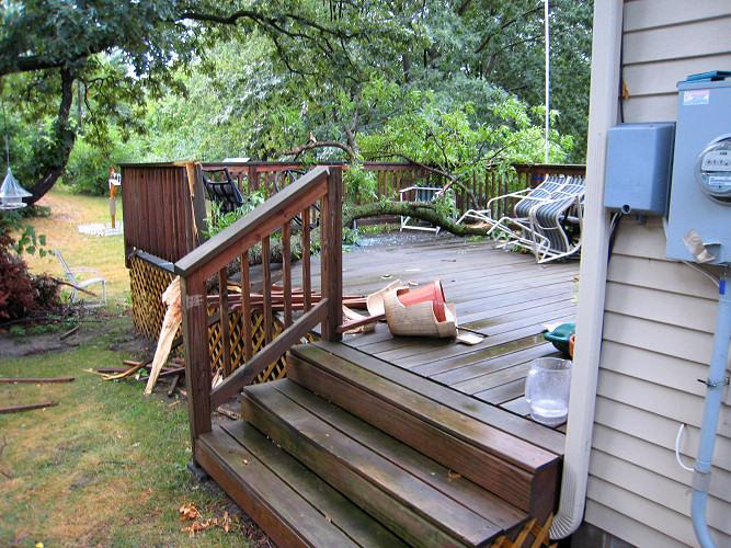 Deck damage