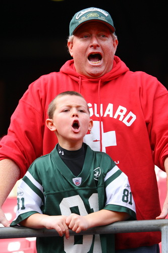 J-E-T-S Jets Jets Jets...........  Father and son
