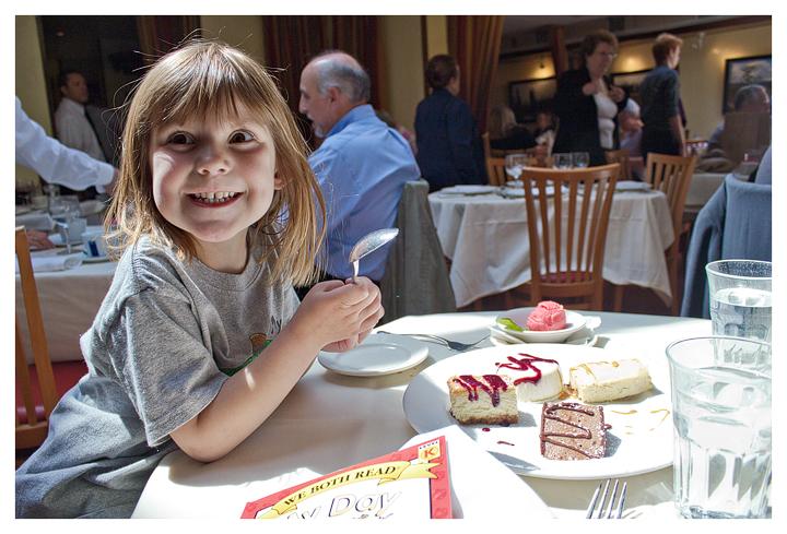 Dessert assortment at Becco