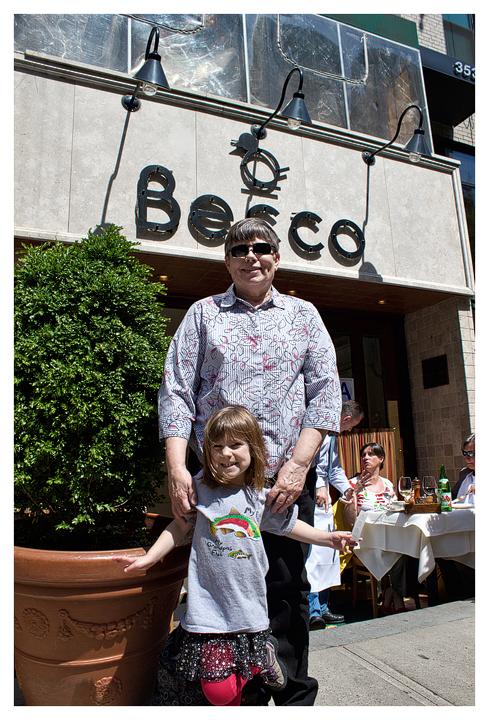 Norah and Grandma at Becco