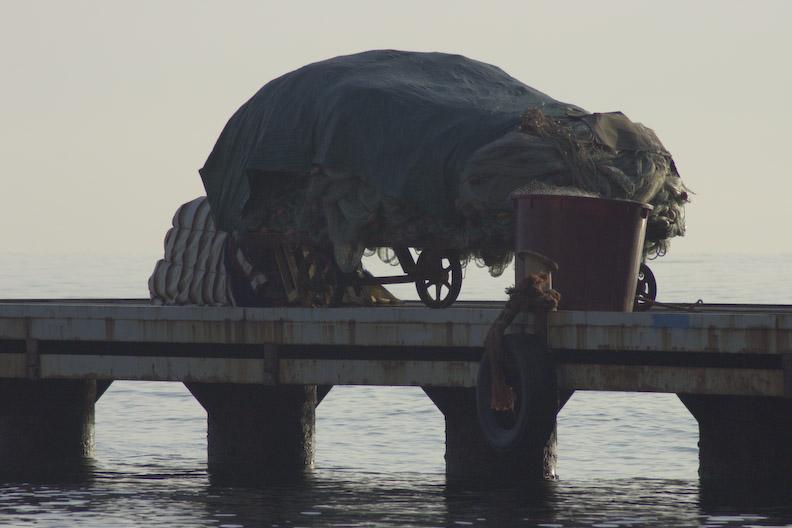 Fishing net wagon